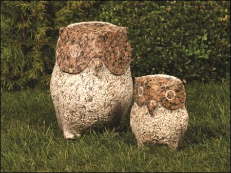 Gartendekoration und Skulptur Eule, Gärtnerei Weißer's Floraparadies